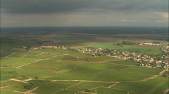 AERIAL France-Vineyards And Nuits-Saint-Georges Stock Footage
