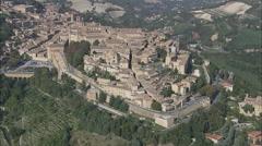 AERIAL Italy-Ducal Palace, Urbino Stock Footage