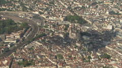 AERIAL France-Dijon Stock Footage