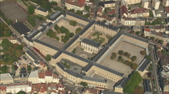 AERIAL France-Vezelay Abbey Stock Footage