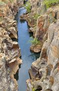 Bourkes Luck Potholes washouts and potholes in dolomite rock Blyde River Canyon Stock Photos