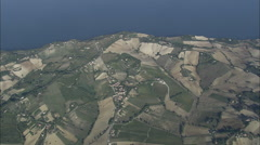 AERIAL Italy-Monte Caneroa, Coastline And Sirolo Stock Footage