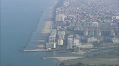 AERIAL Italy-Pescara Stock Footage