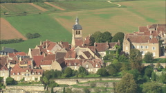 AERIAL France-Vezelay Stock Footage