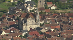 AERIAL France-Coulanges-La-Vineuse Stock Footage