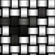 Grayscale knitted background Stock Illustration