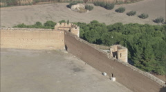 AERIAL Italy-Lucera Castle - stock footage