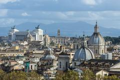 View from Castel SantAngelo old town XIV rione Borgo Rome Lazio Italy Europe Kuvituskuvat