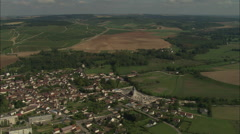 AERIAL France-Chablis Stock Footage