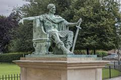 Stock Photo of Monument Emperor Constantine the Great in front of the York Minster York