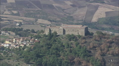AERIAL Italy-Lagopesole Castle Stock Footage