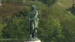 AERIAL France-Vercingretorex Memorial Stock Footage