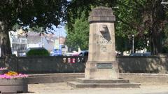 Port of Bideford Monument in Bideford Town in North Devon Stock Footage