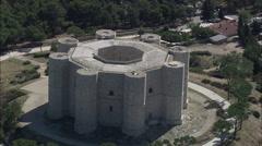 AERIAL Italy-Castel Del Monte Stock Footage
