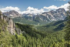 Mountain landscape with spruce forests near Cortina dAmpezzo view from the 5 Kuvituskuvat