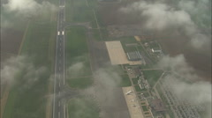 AERIAL France-Passing High Over Metz-Nancy-Lorraine Airport Stock Footage
