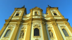 Pilgrimage church Dub nad Moravou Stock Footage