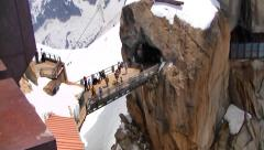 Atop Aiguille du Midi,  France Stock Footage