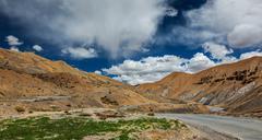 Manali-Leh road to Ladakh in Indian Himalayas. Ladakh, India - stock photo