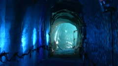 Inside the Mer de Glace, Chamonix, France Stock Footage