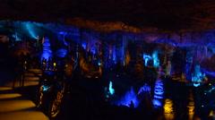 Soreq Avshalom Stalactites Cave - Israel Stock Footage