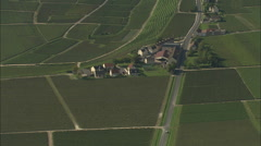 AERIAL France-Champagne Vineyards Near Epernay Stock Footage