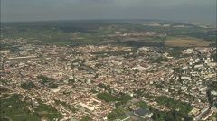 AERIAL France-Epernay Stock Footage