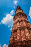 Qutub Minar - the tallest minaret in India, UNESCO World Heritage Site. Qutub Stock Photos