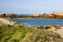 Coastal scene on guernsey,  Channel Islands Stock Photos