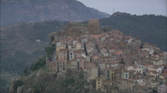 AERIAL Italy-Pollina Stock Footage