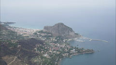 AERIAL Italy-Cefalu Stock Footage
