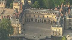 AERIAL France-Chateau De Fontainebleau Stock Footage