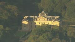 AERIAL France-Chateau De Voisins Stock Footage