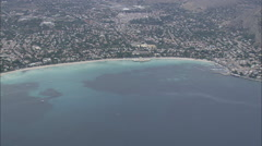 AERIAL Italy-Mondello And Capo Gallo Stock Footage