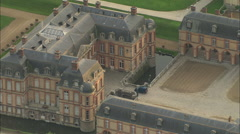AERIAL France-Chateau De Dampierre Stock Footage