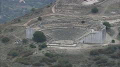AERIAL Italy-Segesta Ruins Stock Footage