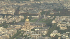 AERIAL France-Les Invalides Stock Footage