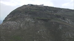 AERIAL Italy-Flight And Reveal The Theatre At Segesta Stock Footage