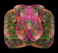 Abstract fractal big gem Stock Illustration