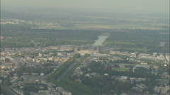 AERIAL France-Palace Of Versailles In Sun Stock Footage
