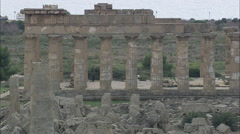 AERIAL Italy-The Temple Of Hera - stock footage