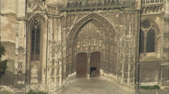 AERIAL France-Beauvais Cathedral In Sun Stock Footage