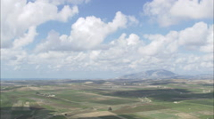 AERIAL Italy-Landscape Between Valerice And Castellammare Del Golfo Stock Footage