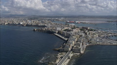 AERIAL Italy-Trapani Docks Stock Footage