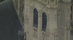 AERIAL France-Amiens Cathedral Stock Footage