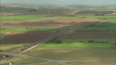 AERIAL France-Channel Tunnel Stock Footage