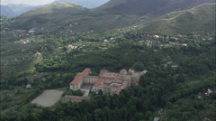 AERIAL Italy-Abbey Of San Martino Stock Footage