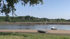 Boats and the River Torridge in Bideford North Devon Stock Footage