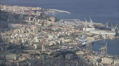 AERIAL Italy-Palermo Docks - stock footage