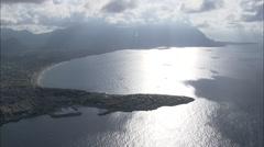 AERIAL Italy-Golfo Di Carini Stock Footage